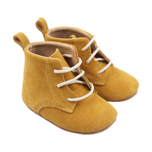 Mustard Lace Up Baby Boots
