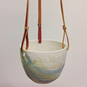 Hanging Planter with Leather