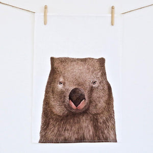 Winston the Wombat Tea Towel