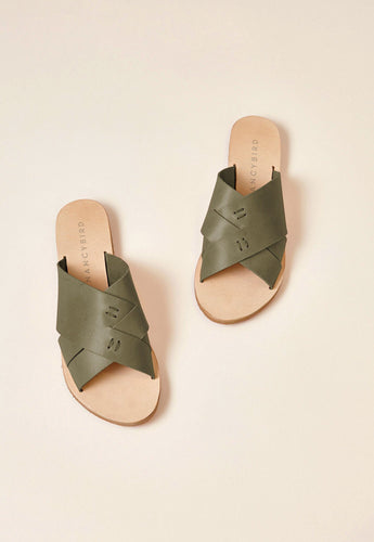 Nancybird Easy Sandals Olive RRP$109