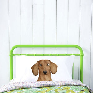 Duke the Dachshund Pillow Case