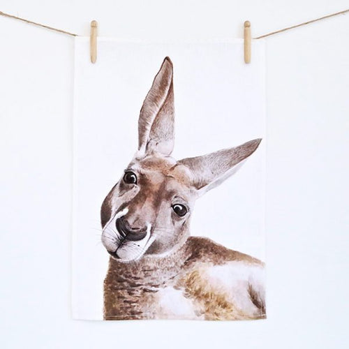 Kylie the Kangaroo Tea Towel