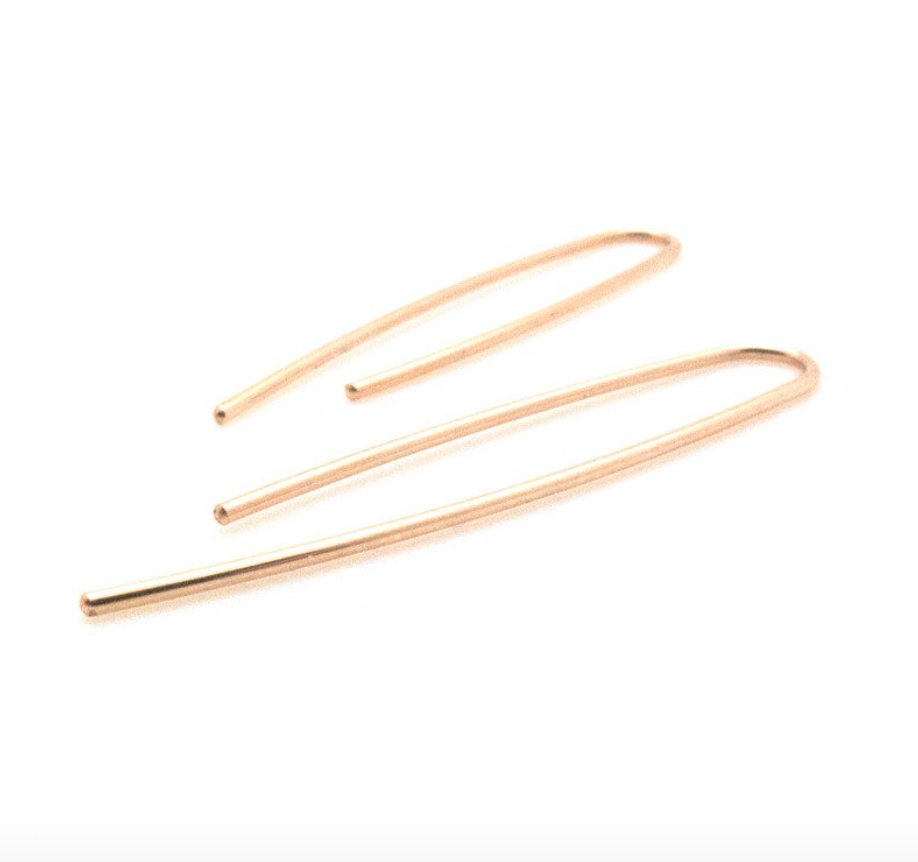 Uneven U Earrings Gold