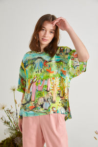 Wolf & Mishka River Tunic Top (Med) RRP$199