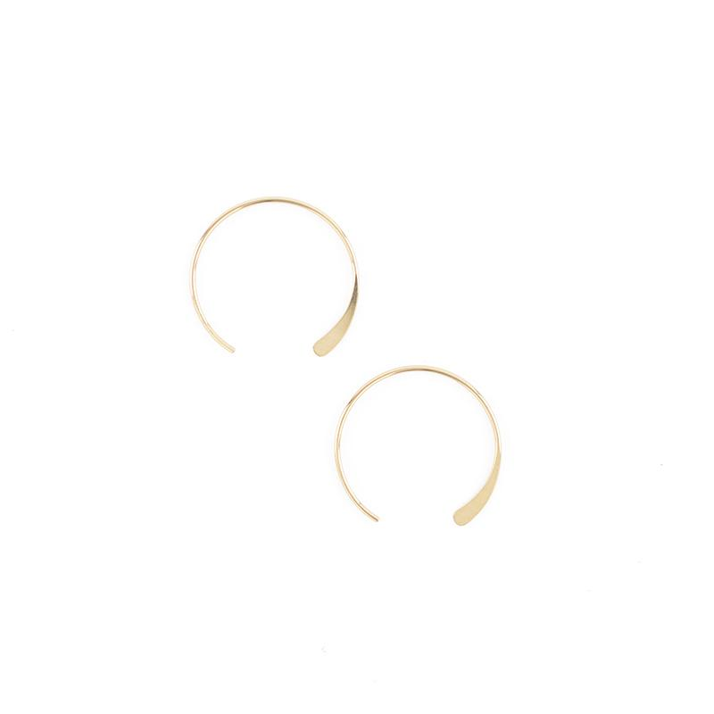 Gold Luna Hoops - Small