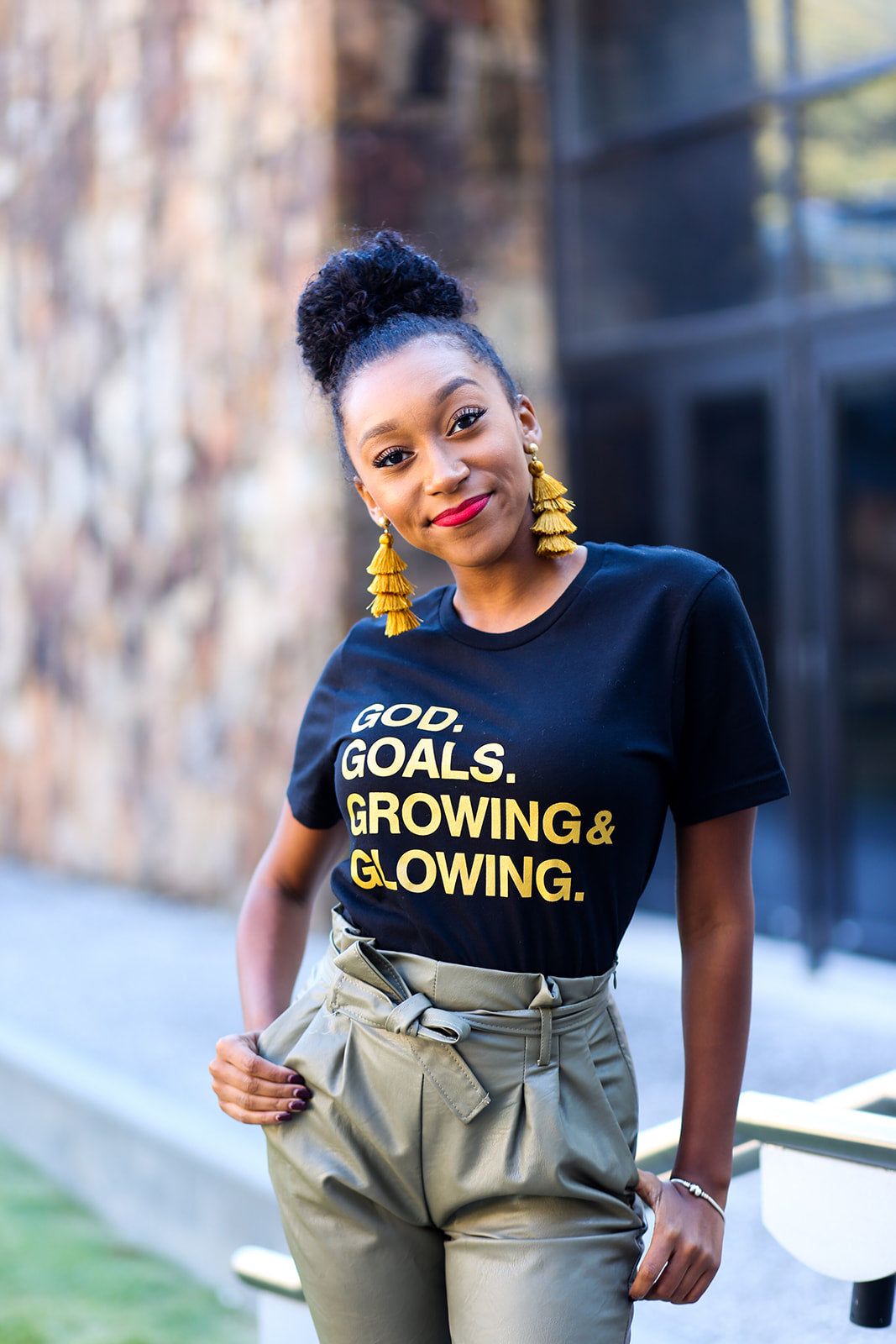 'GOD and GOALS' Tee