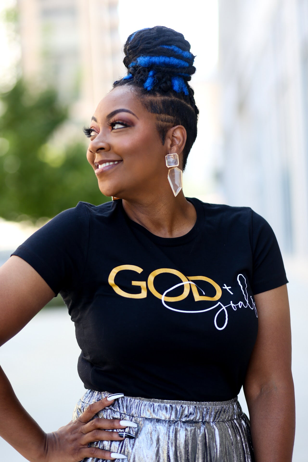 'GOD + Goals Logo' Tee