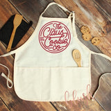 Claus Cookie Company Christmas Apron ~ Christmas baking apron - Blush & Company Designs