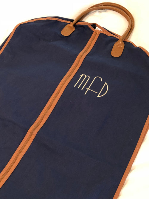 Men's Garment bag ~ Monogrammed Suit bag - Blush & Company Designs