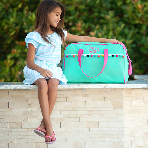 Emily Duffle Bag ~ Monogrammed Travel bag ~ Monogrammed Duffle - Blush & Company Designs