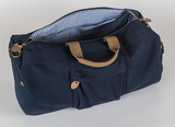 Hudson Round Duffle Bag ~ Monogrammed Duffle bag for men - Blush & Company Designs