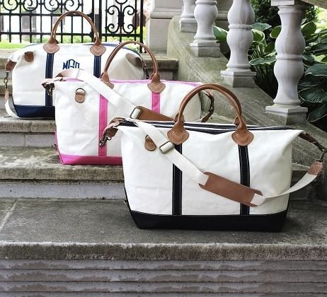 Weekender Duffle ~ Monogrammed Shore Duffle Bag - Blush & Company Designs
