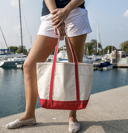 Medium Boat Tote ~ Monogrammed Tote Bag - Blush & Company Designs