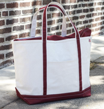 Shore Large Classic Boat Tote ~ Monogrammed Tote Bag - Blush & Company Designs
