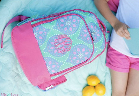 Monogrammed Marlee Backpack ~ Monogrammed girls backpack ~ Back to school backpack - Blush & Company Designs