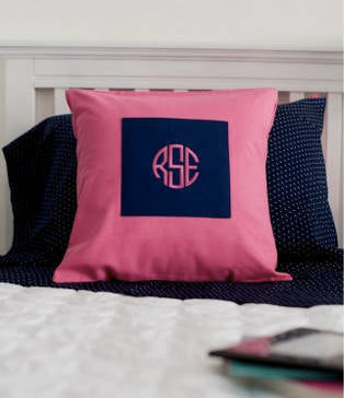Personalized throw pillow ~ Dorm room Monogrammed pillow ~ porch monogrammed pillow - Blush & Co. Designs