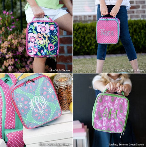 Monogrammed Lunch Box ~ Pineapple Lunch box ~ Custom Girls lunch box - Blush & Co. Designs
