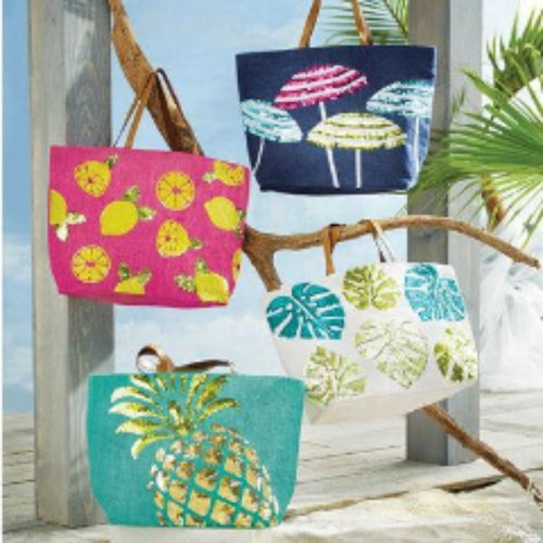 Summer Dazzle Jute totes ~ Personalized Jute totes ~ Monogrammed tote bags ~ beach bag - Blush & Company Designs