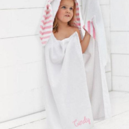 Hooded Bunny towel ~ Little girls hooded towel ~ Monogrammed hooded bunny towel - Blush & Company Designs
