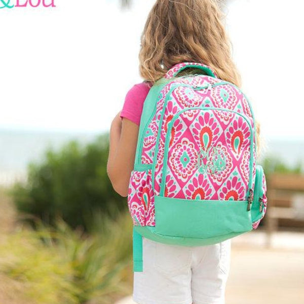 Monogrammed Beachy Keen Backpack ~ Monogrammed girls backpack ~ Back to school backpack - Blush & Company Designs