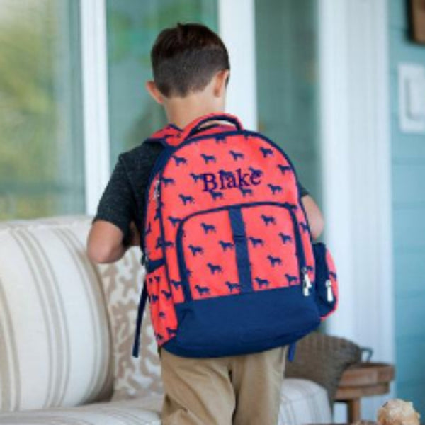 Dog Days Monogrammed Backpack ~ Monogrammed boys backpack ~ personalized backpack - Blush & Company Designs