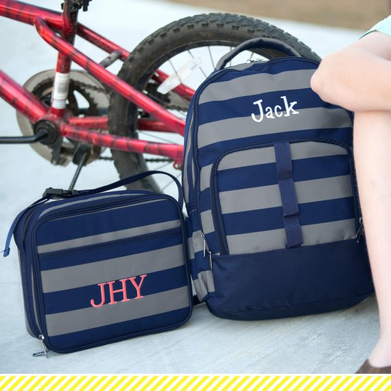Monogrammed Greyson Backpack lunch box and pencil case~
