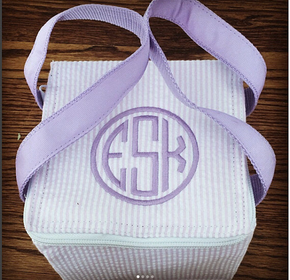 Monogrammed Snack Square ~ Back to school snack bag ~ lunchbox ~ baby bottle cooler - Blush & Company Designs
