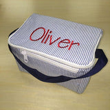 Monogrammed Insulated lunch box ~ zip top lunch box ~ back to school lunch tote - Blush & Company Designs