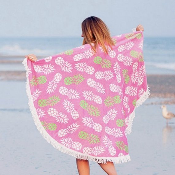 Monogrammed Round beach towel ~ perfect beach towel ~ bridesmaid ~ graduate ~ beach trip
