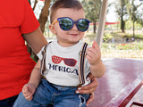 Merica youth tshirt ~ Fouth of July youth and infant shirt ~ cute fourth of july ~ little boy ~ little girl - Blush & Company Designs