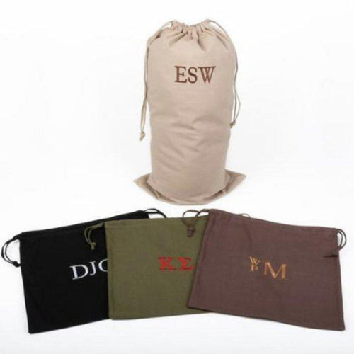 Custom Men's Laundry Bag ~ Monogrammed ~ Fraternity, Groomsmen, Dad's