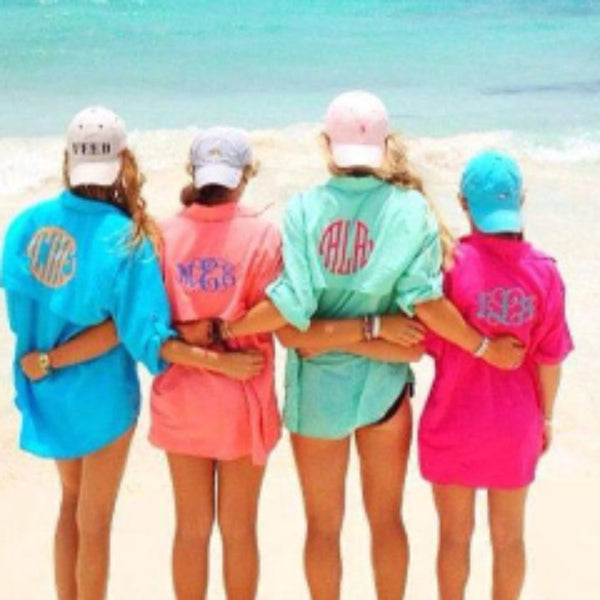Monogrammed women's fishing shirt- cover up!! - Blush & Company Designs