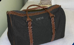 Monogrammed Men's Duffle - Monogram Duffle - duck cloth duffle - Blush & Company Designs