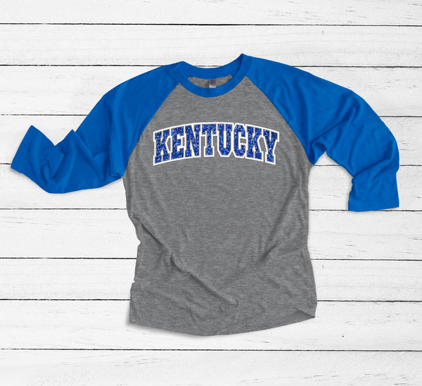Kentucky Wildcats raglan ~ Kentucky shirt ~ custom kentucky shirt - Blush & Company Designs