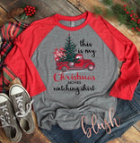 This is my Hallmark Christmas watching shirt ~ Christmas graphic T-shirt's and raglans - Blush & Company Designs