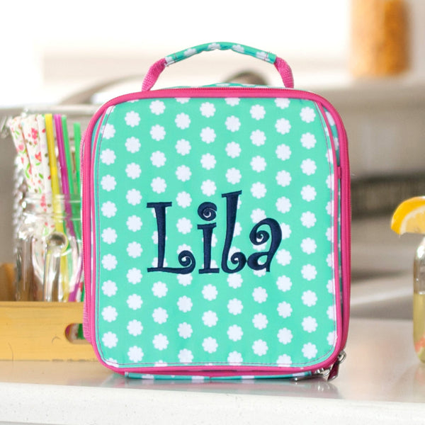Hadley Bloom Lunch Box ~ Monogrammed Girls lunch box - Blush & Company Designs