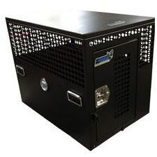Owens Heavy Duty Tactical Containment - PC Flat Black  Door on End, Owens Product - DogkennelsUSA.com