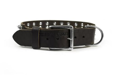 Dean and Tyler 4 Row Spikes Nickel Spiked Collar DTC4-N