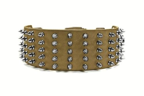 Dean and Tyler Wide Spike Nickel Spiked Collar DTC5-N