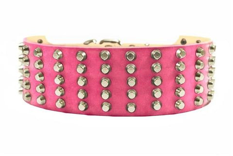 Dean and Tyler Wide Stud Nickel Studded Collar DTC5