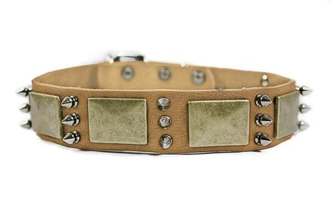 Dean and Tyler Beauty and The Bold Nickel Spiked Collar DTC84-N