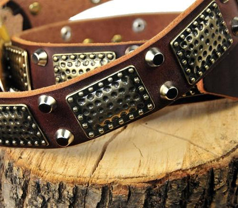 Dean and Tyler Thor Brass Spiked Collar DTC85+B