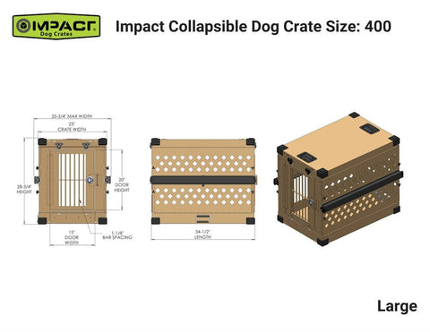 Grain Valley GVFoldCrate-L Large Impact Collapsible Dog Crate