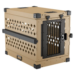 Image of Grain Valley Impact Folding/Collapsible Dog Crate GVFoldCrate, Khaki