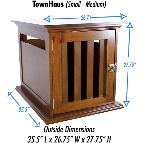 DenHaus TownHaus Elite Pet Furniture Luxury Crates, DenHaus - DogkennelsUSA.com