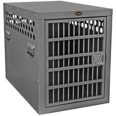 Zinger Deluxe Series Aluminum Airline Approved Dog Crate, Silver Hammertone