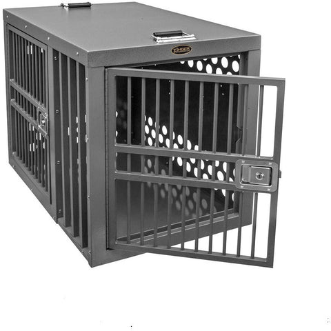 Zinger Heavy Duty Double Door Dog Crate - Front/Side Entry (Centered), Zinger - DogkennelsUSA.com