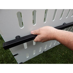 KBC Kennels White/Black Standard Heavy Duty Crate