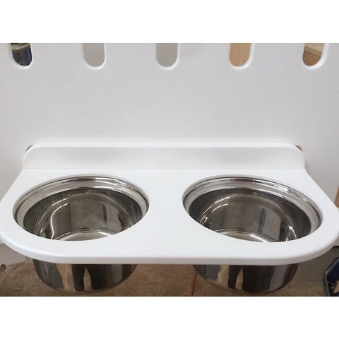 KBC Kennels Standard Heavy Duty White/Black Kennel, KBC KENNELS - DogkennelsUSA.com