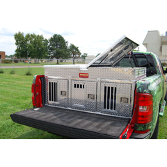 Owens Hunter Aluminum Dog Box Triple- All Season w/ Top Storage 55053